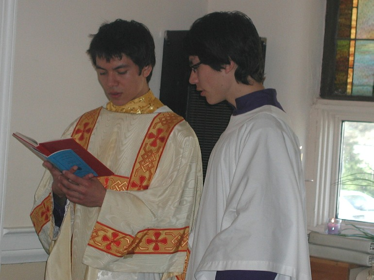 Sub-deacon and acolyte